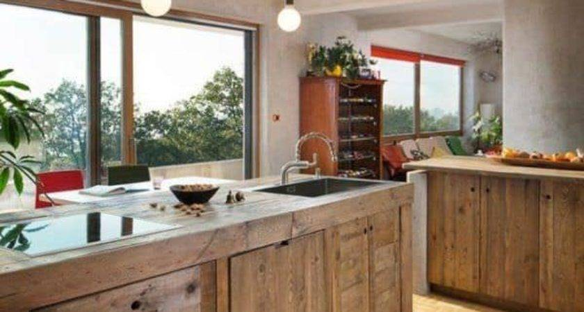 Entire Modern Kitchen Made Out Pallets