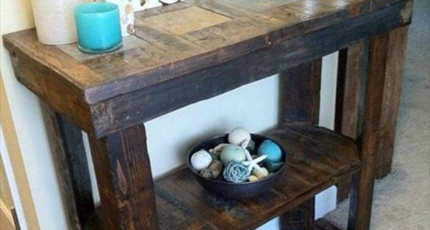 Entryway Table Make Out Rustic Pallet Pallets Designs