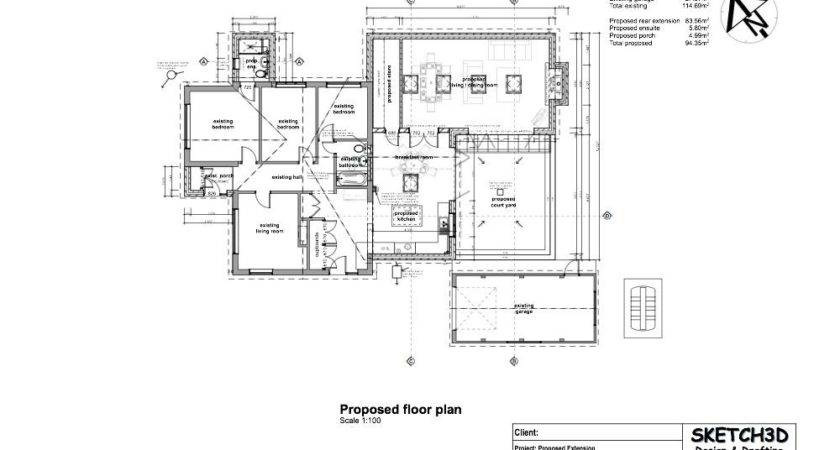 Example Contemporary House Extension Plans