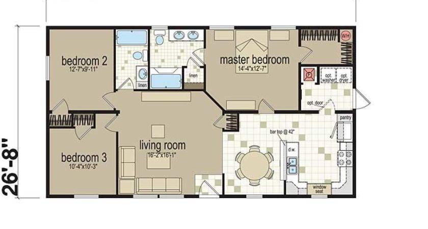 Examples Three Bedroom Modular Home Floor Plans
