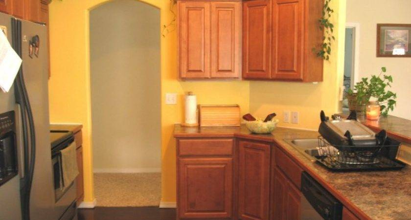 Exquisite Wood Cabinets Design Small Kitchen Using