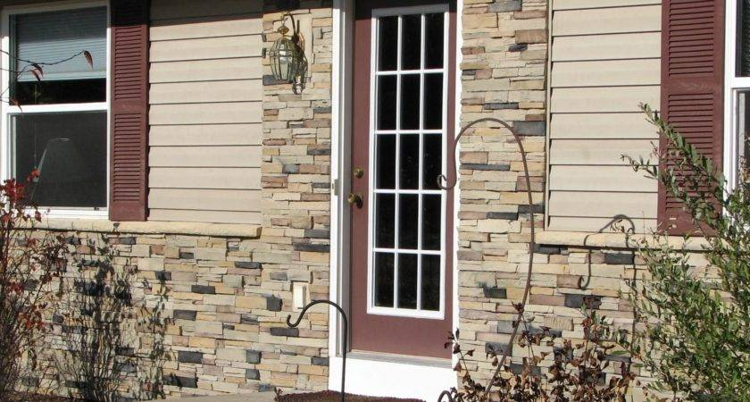 Exterior Amazing Fake Stone Siding Home Interior