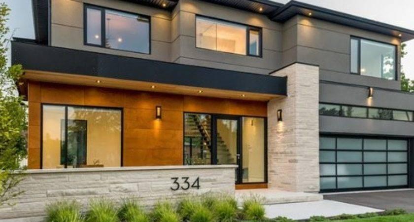 Exterior Home Flat Roof Design Ideas Remodel