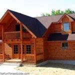 Exterior Log Siding Walls Cabin