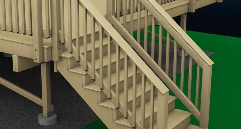 Exterior Stair Handrail Build Deck Wood Stairs