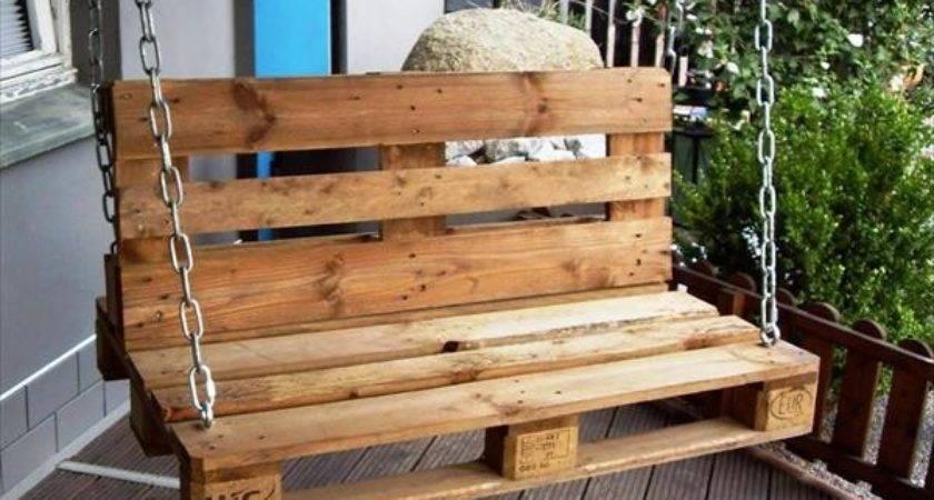 Eye Catching Diy Reclaimed Pallet Porch Swing Ideas