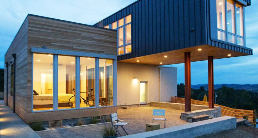 Fab Prefab House Overlooking Panoramas Sonoma Rolling