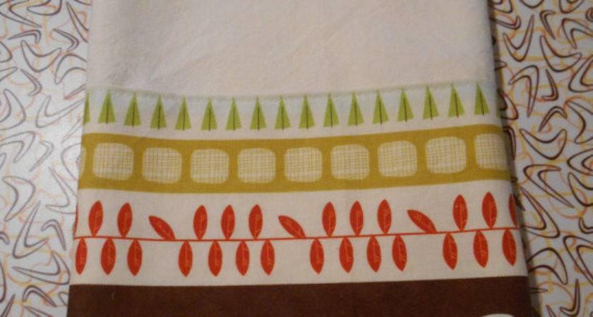 Fabric Trimmed Hand Towel Vintage Trailer