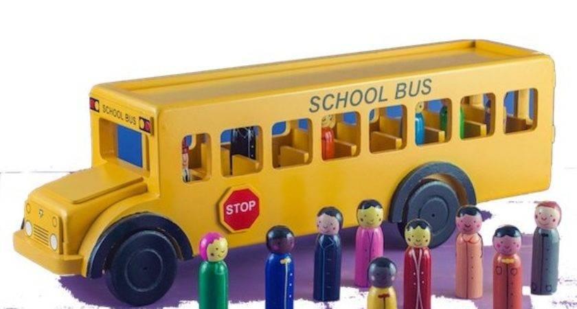 Fair Trade Wooden School Bus