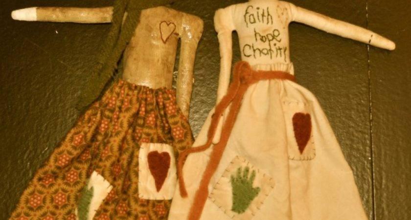 Faith Hope Charity Primitive Dolls Patricelongmire