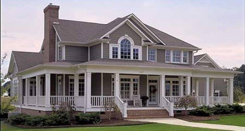 Farmhouse Plans Wrap Around Porch House Plan