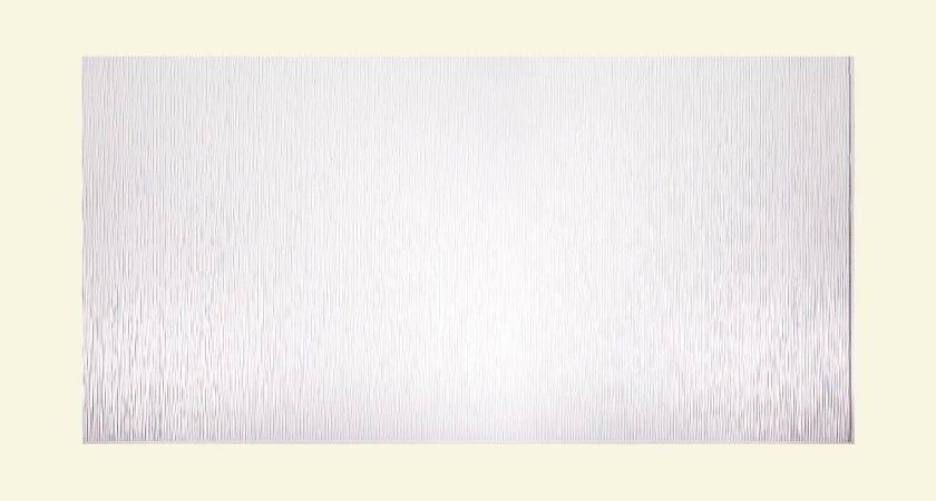Fasade Decorative Vinyl Gloss White Wall Panel Ripple