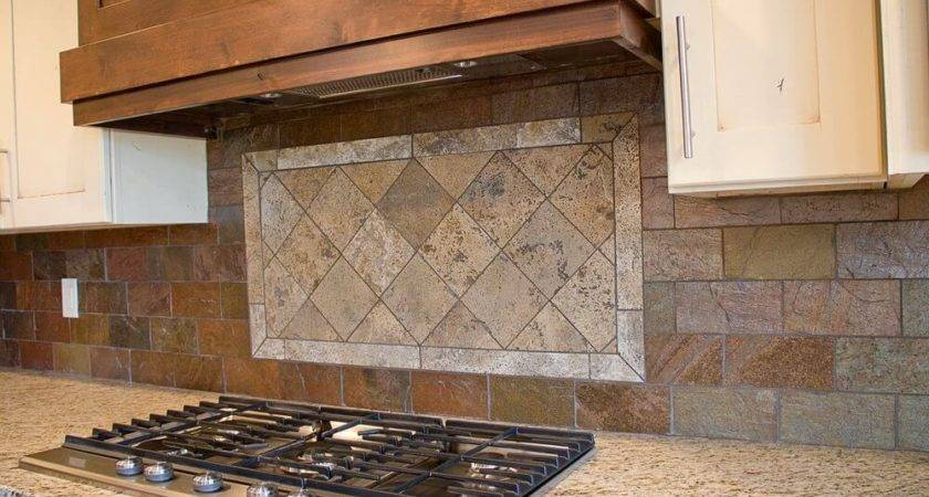 Faux Brick Tile Backsplash Kitchen Cabinet