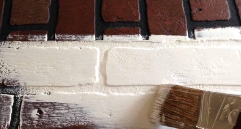 Faux Brick Wall Fireplace Mantel Backdrop Jennifer Rizzo