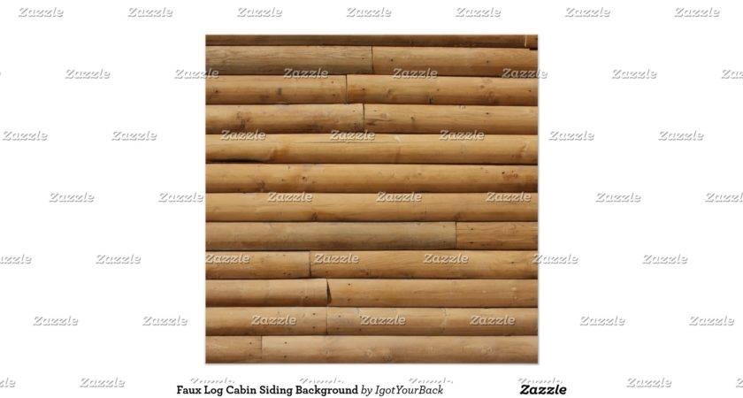 Faux Log Cabin Siding Posters Zazzle