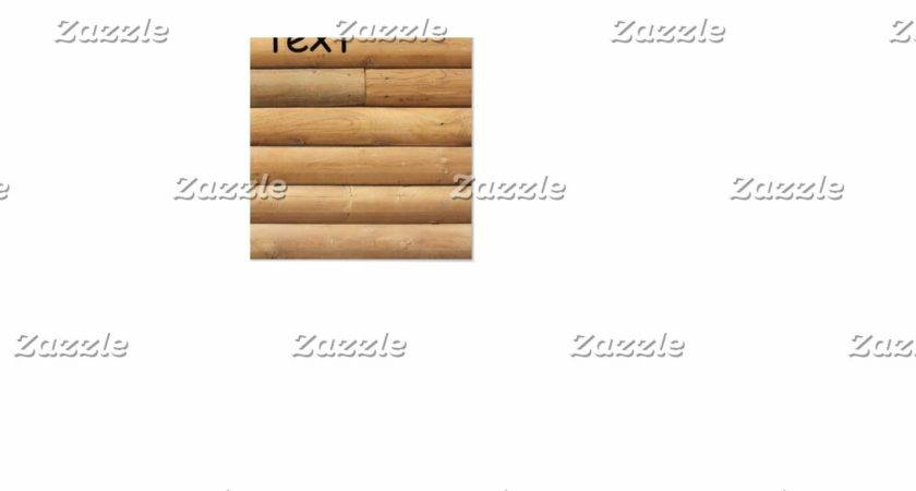 Faux Log Cabin Siding Square Paper