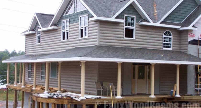 Faux Log Siding Ideas Home Improvement Inspire