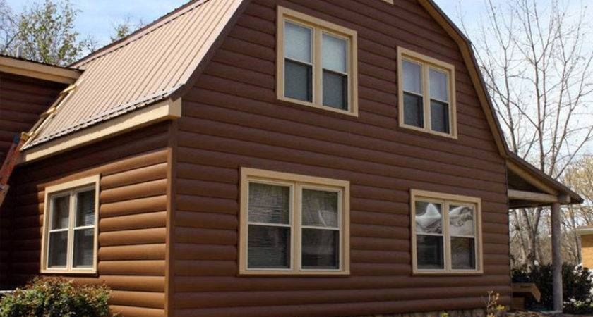 Faux Log Siding Ideas Home Improvement Inspire