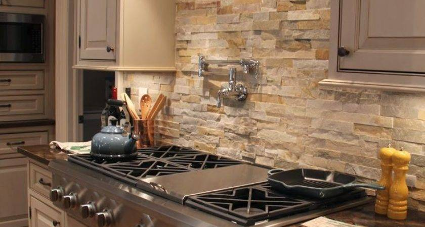 Faux Stone Backsplash Kitchen Clean Your