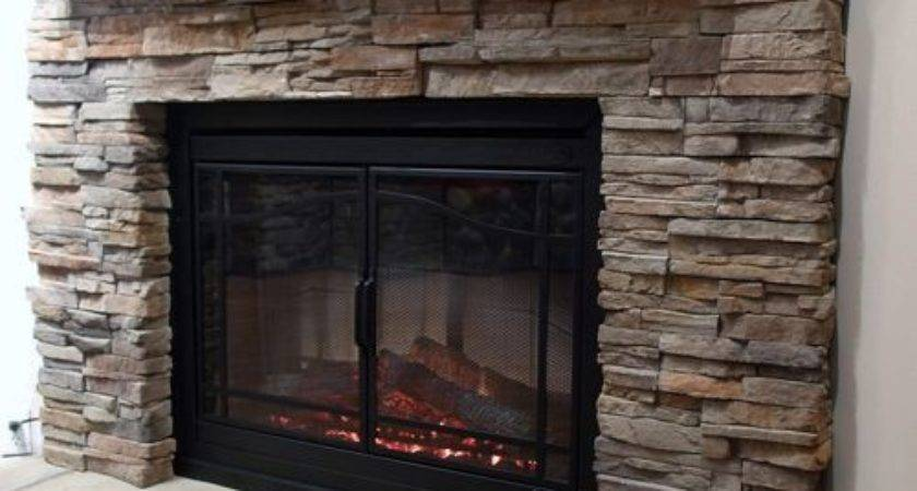 Faux Stone Fireplace Home Design Ideas Remodel