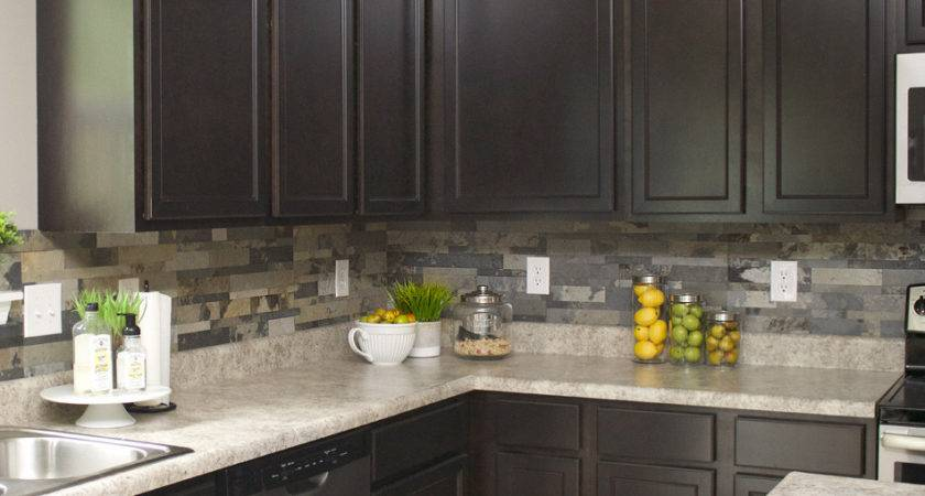 Faux Stone Kitchen Backsplash Nest Less