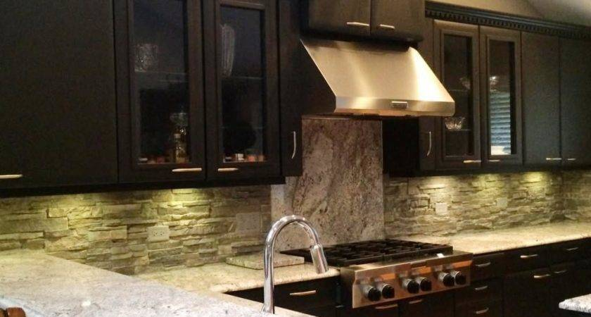 Faux Stone Panels Kitchen Backsplash Home Design