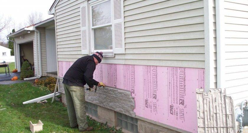 Faux Stone Siding Installation Wooden Houses