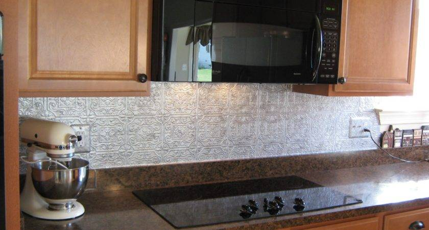 Faux Tile Backsplash Peel Stick Home Design Decide