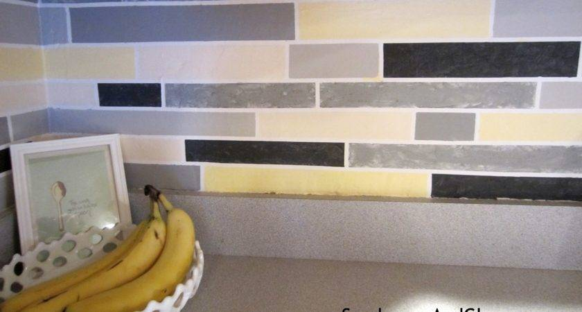 Faux Tile Backsplash Stephanie Marchetti Sandpaper