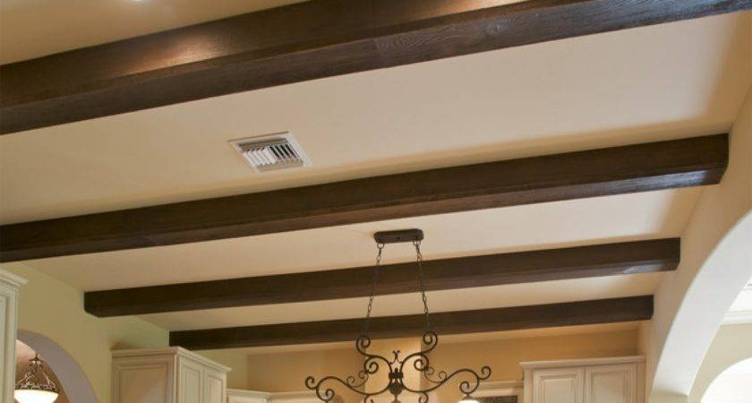Faux Wood Beam Ceiling Designs Traditional Kitchen New