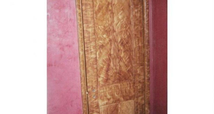 Faux Wood Graining Interior Door Trim