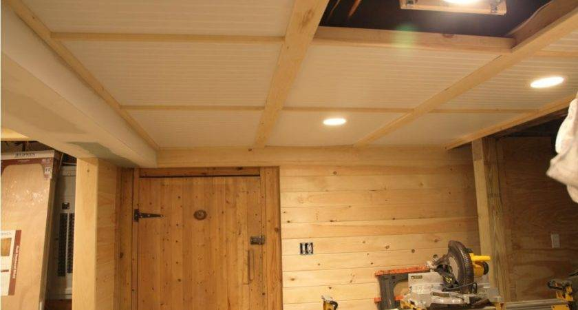 Faux Wood Paneling Basement Ceiling Best House Design