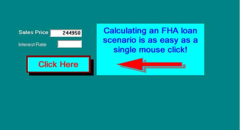 Fha Sale Screen Before Calculations