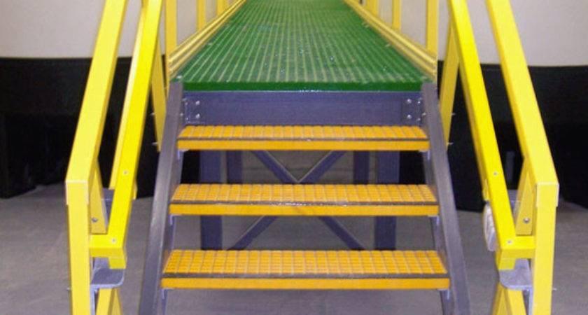 Fiberglass Ladders Platforms Railings Aqua