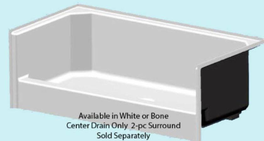 Fiberglass Shower Pan Center Drain Bone Mobile