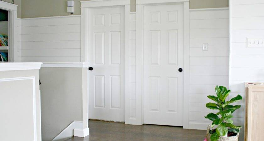 Finished Shiplap Walls Farmhouse Door Trim Loft