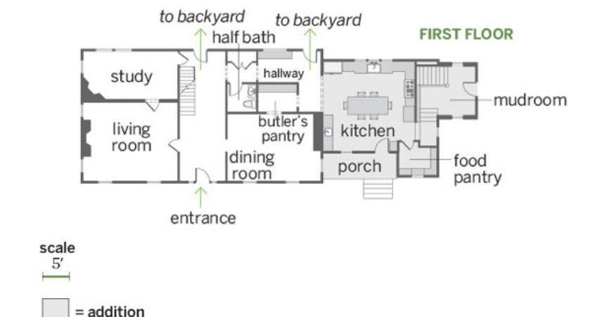 First Floor Plans Spacious Addition Farmhouse