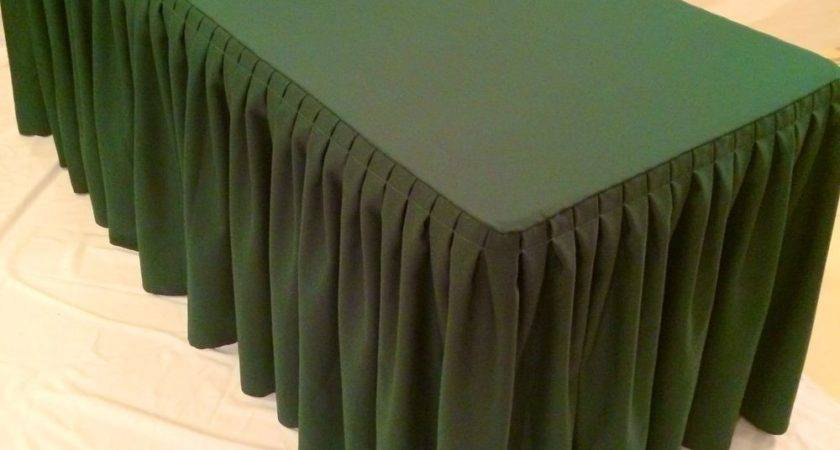 Fitted Polyester Double Pleated Table Skirting Cover