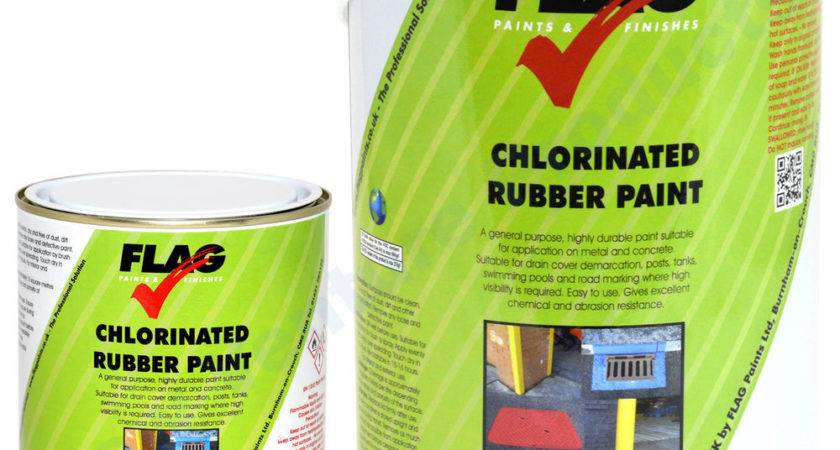 Flag Chlorinated Rubber Paint Known Road Line Marking