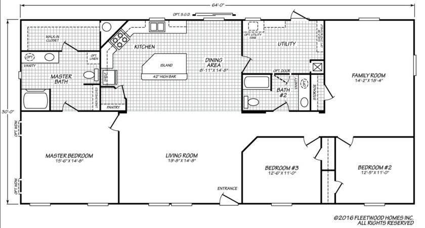 Fleetwood Floor Plans Attractive Mobile Home