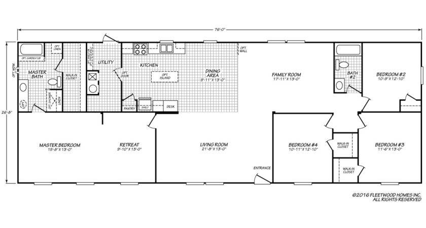 Fleetwood Manufactured Homes Floor Plans Gurus