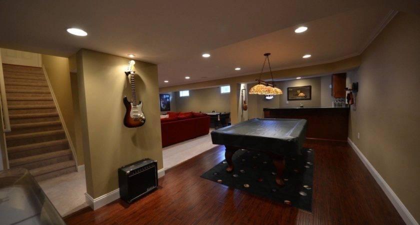Floor Basement Flooring Options Epoxy Dark Wood