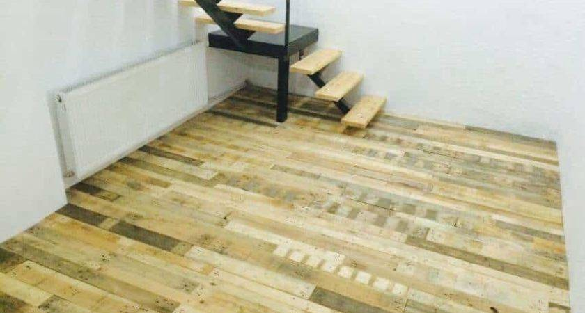Floor Made Out Pallets Recyclart