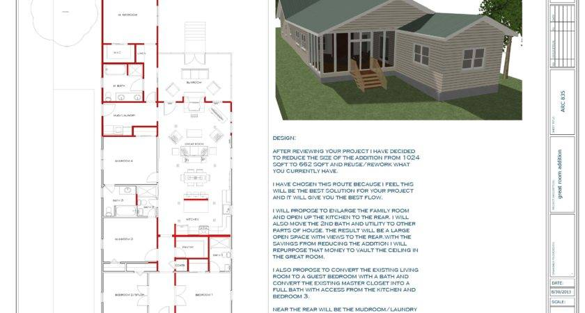 Floor Plans Designed Touyer Lee Great Room Addition