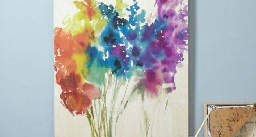 Floral Watercolor Birch Wall Art West Elm