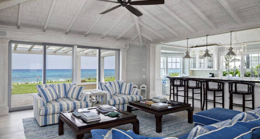 Florida Beach Cottage Style Living Room Miami