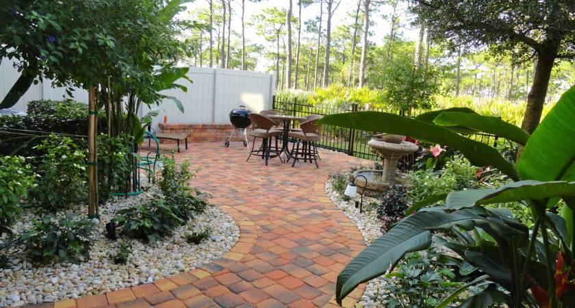 Florida Landscape Design Ideas Courtyard Features