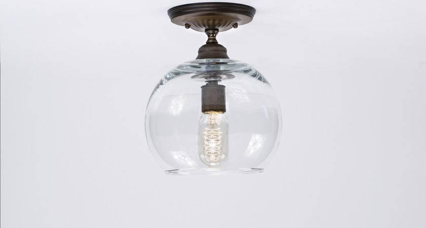 Flush Ceiling Mount Edison Light Fixture Oil Rubbed