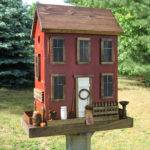 Folk Art Primitive Saltbox House Vintage