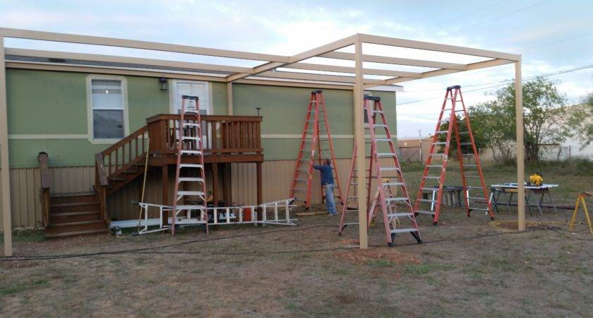 Front Back Awning Carport Attached Mobile Home